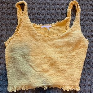 Anthropologie yellow tank top